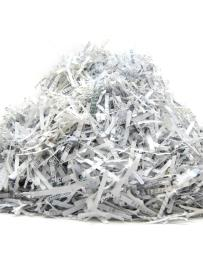 A heap of shredded paper